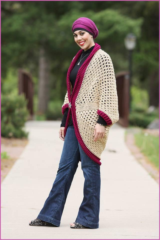 Crochet Tutorial Granny Square Cardigan Yarnutopia By Nadia Fuad