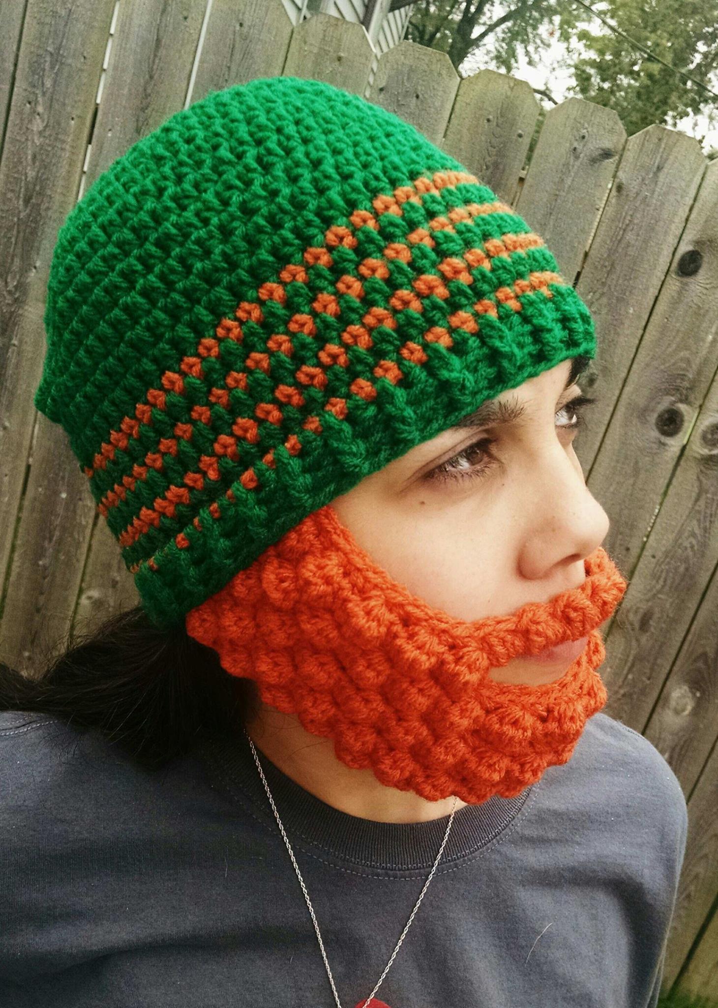 Crochet Tutorial: Puff Stitch Beard « YARNutopia by Nadia Fuad
