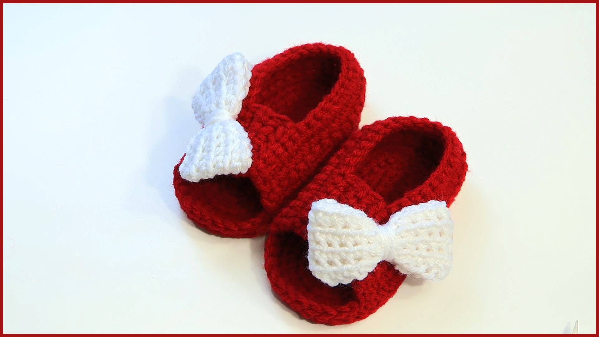 Crochet tutorial baby sandals with a bow yarnutopia by nadia fuad here the video tutorial for the baby sandalsslippers bankloansurffo Image collections