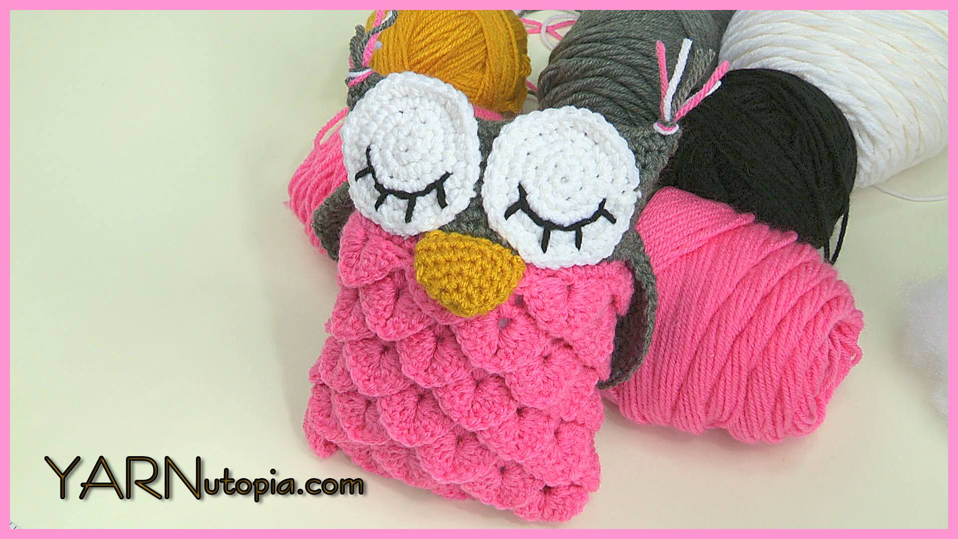Amigurumi Stitch Tutorial : Crochet tutorial owl amigurumi using the crocodile stitch