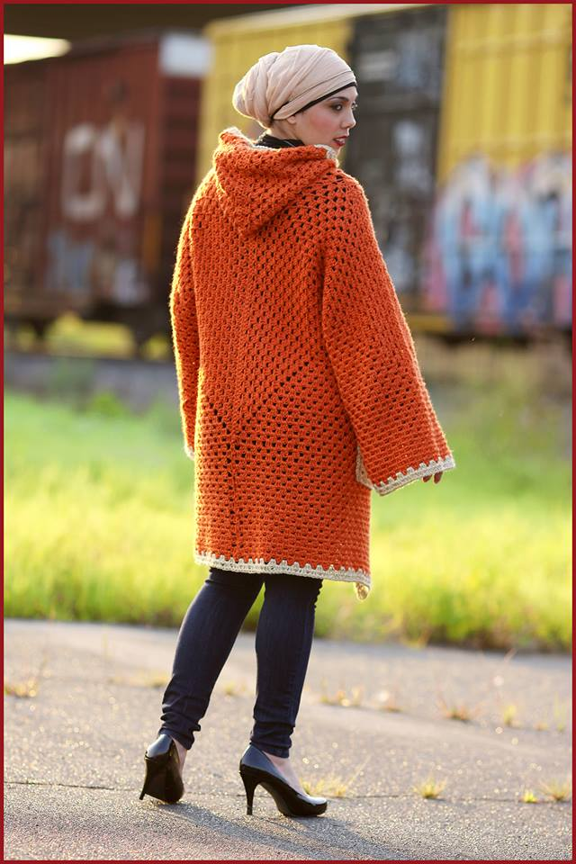 Crochet Tutorial Hexagonal Granny Hooded Cardigan Yarnutopia By