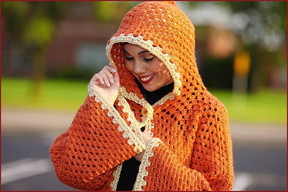 Crochet Tutorial Hexagonal Granny Hooded Cardigan Yarnutopia By