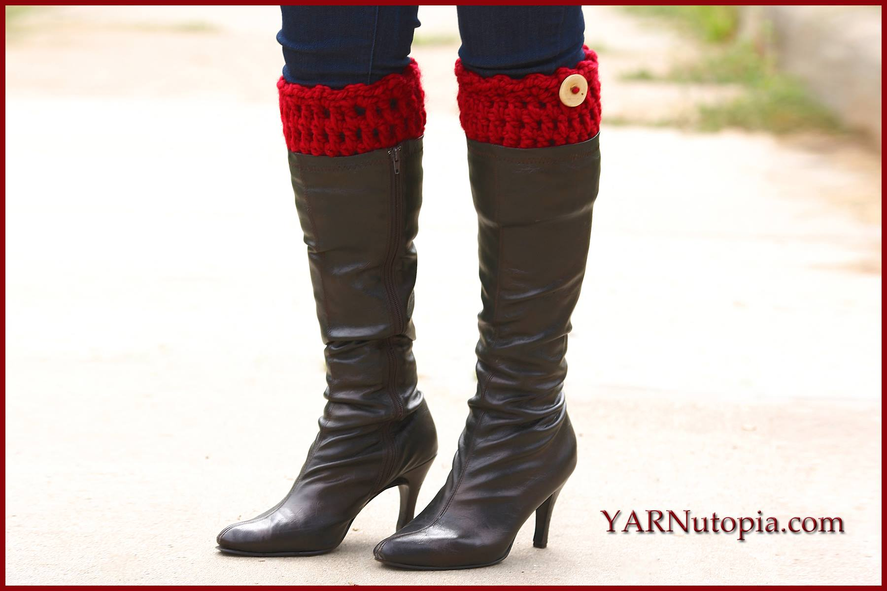 Crochet tutorial simple chunky boot cuffs yarnutopia by nadia fuad simple chunky boot cuffs bankloansurffo Images