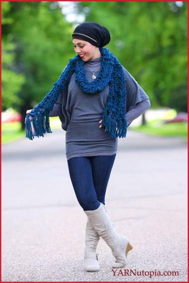 Bobble Stitch Chunky Scarf