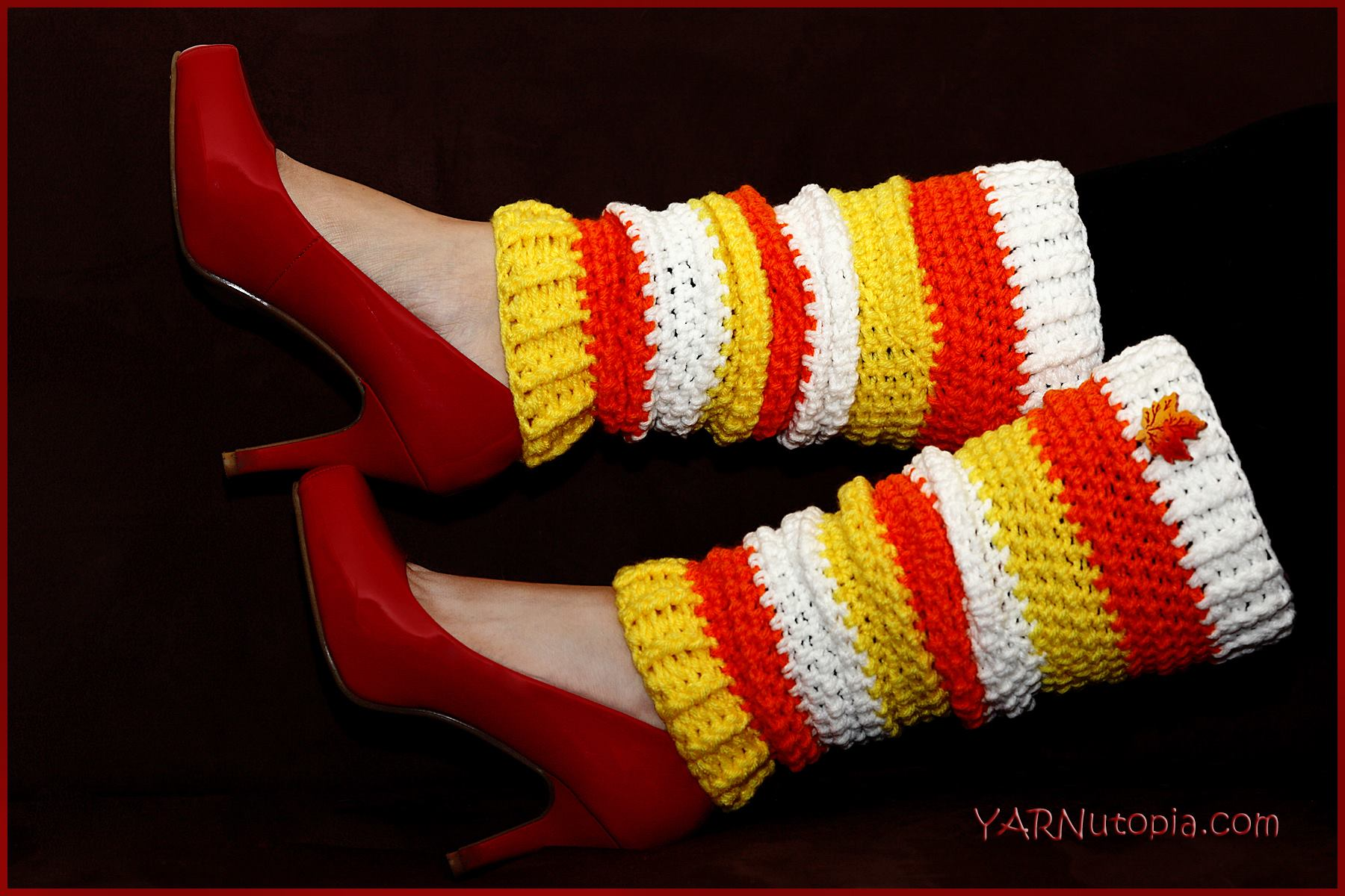 Crochet Tutorial: Candy Corn Leg Warmers « YARNutopia by Nadia Fuad
