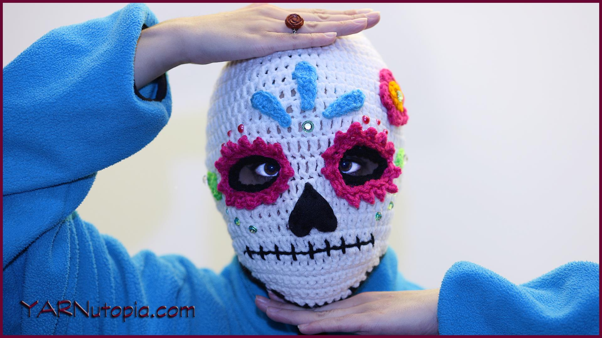 Crochet Tutorial: Sugar Skull Ski Mask « YARNutopia by Nadia Fuad