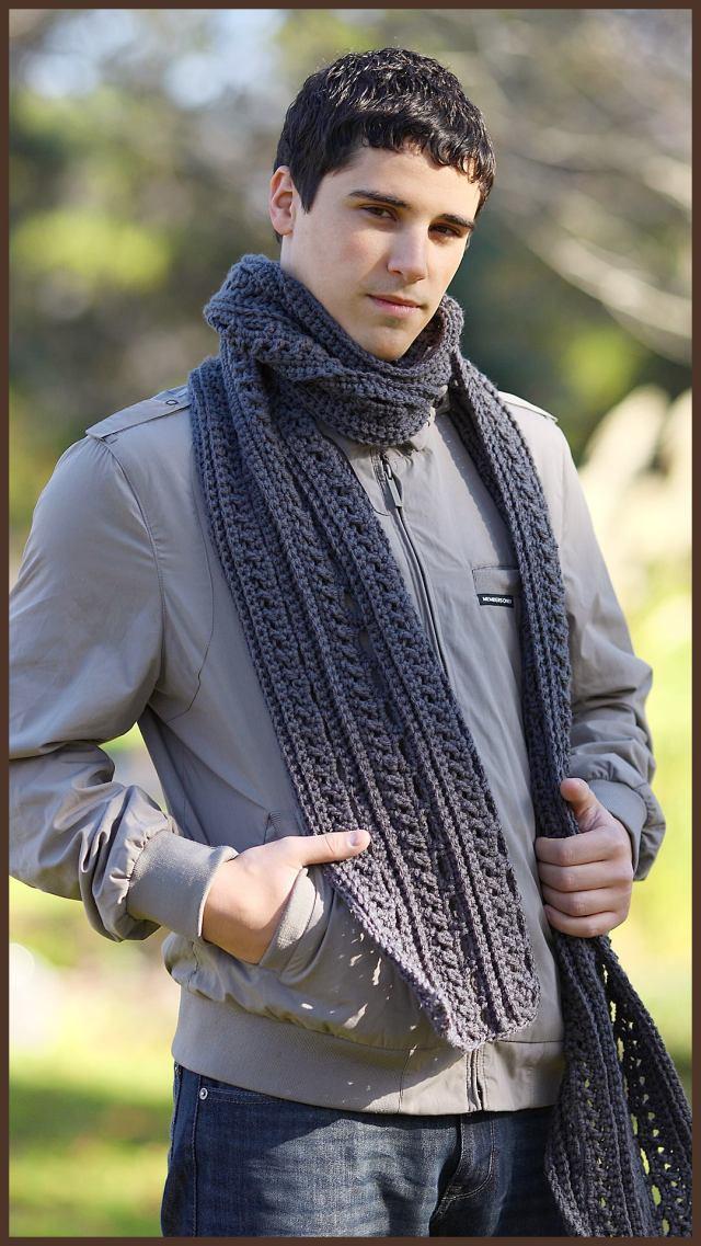 Crochet Tutorial The Gentlemans Scarf Yarnutopia By Nadia Fuad
