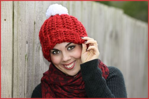 Chunky Hat with Pom
