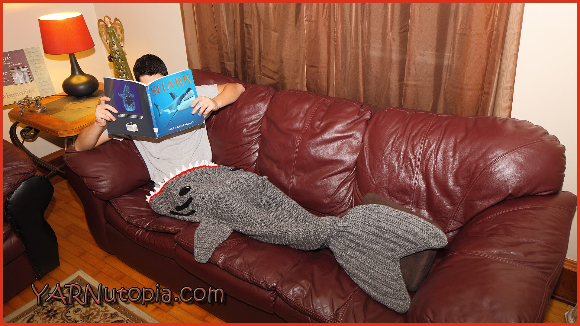 Free Pattern Crochet Shark Blanket : Crochet Tutorial: Adult Shark Blanket YARNutopia by ...