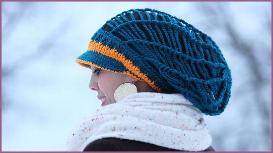 Crochet Tutorial Slouchy Mesh Hat With Brim Yarnutopia By Nadia Fuad