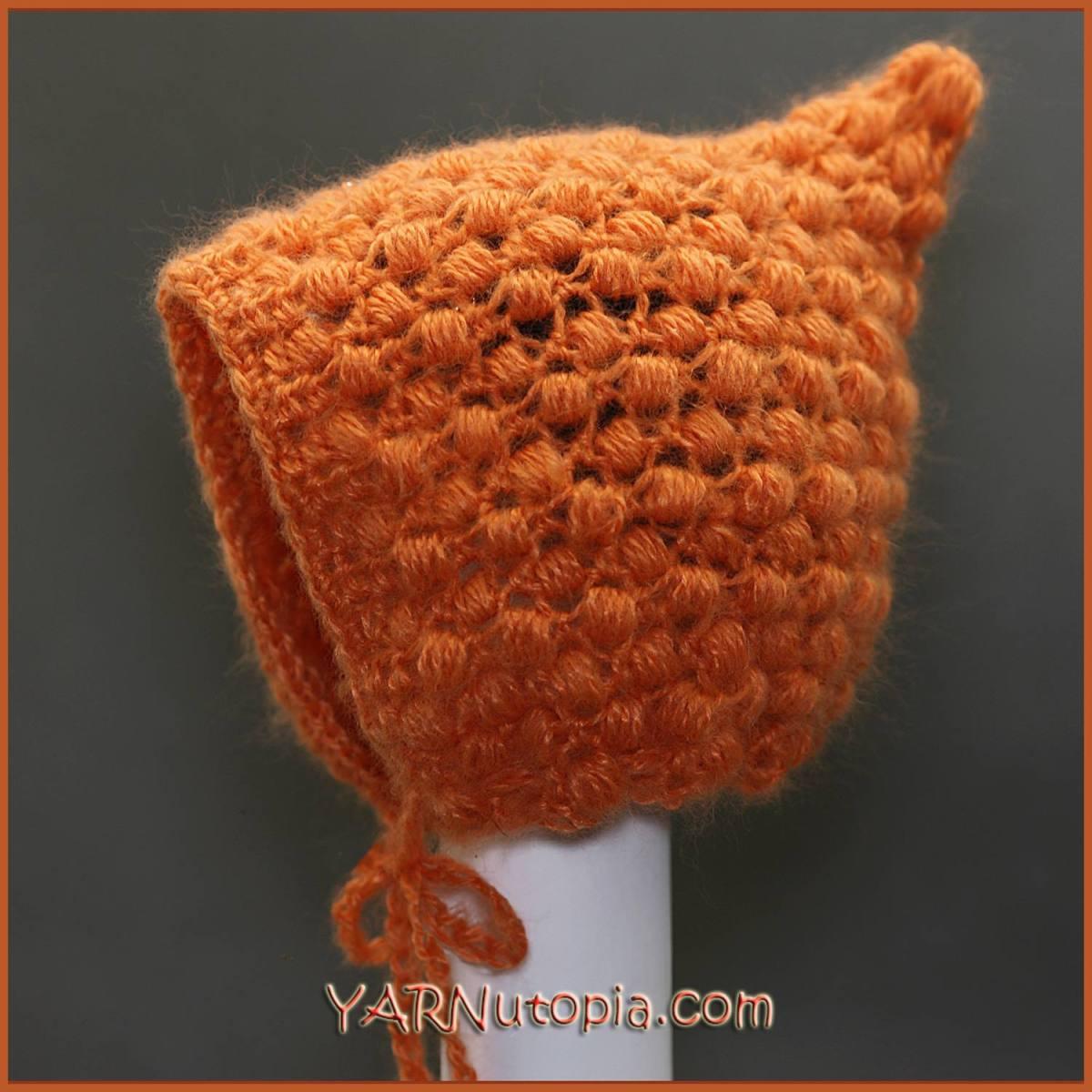 Crochet Tutorial: Pixie Puff Baby Bonnet « YARNutopia by Nadia Fuad