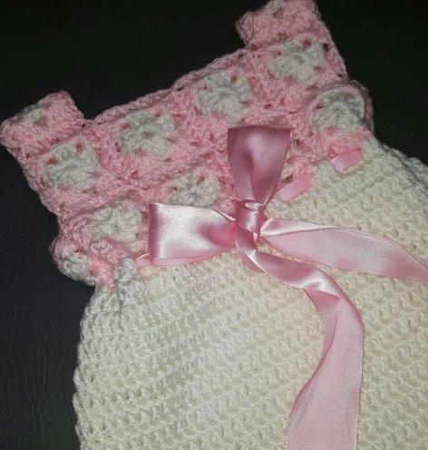 Crochet Tutorial Mini Square Baby Dress Yarnutopia By Nadia Fuad