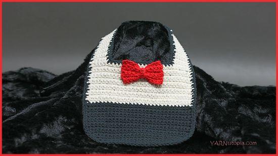 Crochet Tutorial Fine Dining Bow Tie Bib Yarnutopia By Nadia Fuad