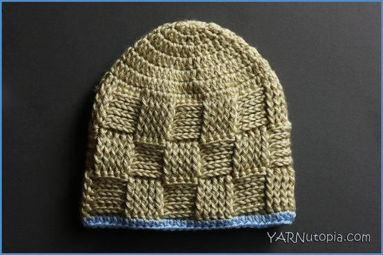 Crochet Tutorial Basket Weave Baby Hat Yarnutopia By Nadia Fuad