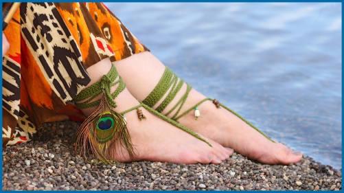 Tribal Barefoot Sandals Yarnutopia By Nadia Fuad