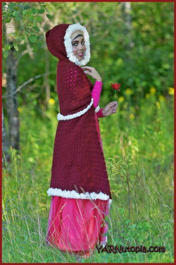 Crochet Tutorial Enchanted Rose Cape Yarnutopia By Nadia Fuad