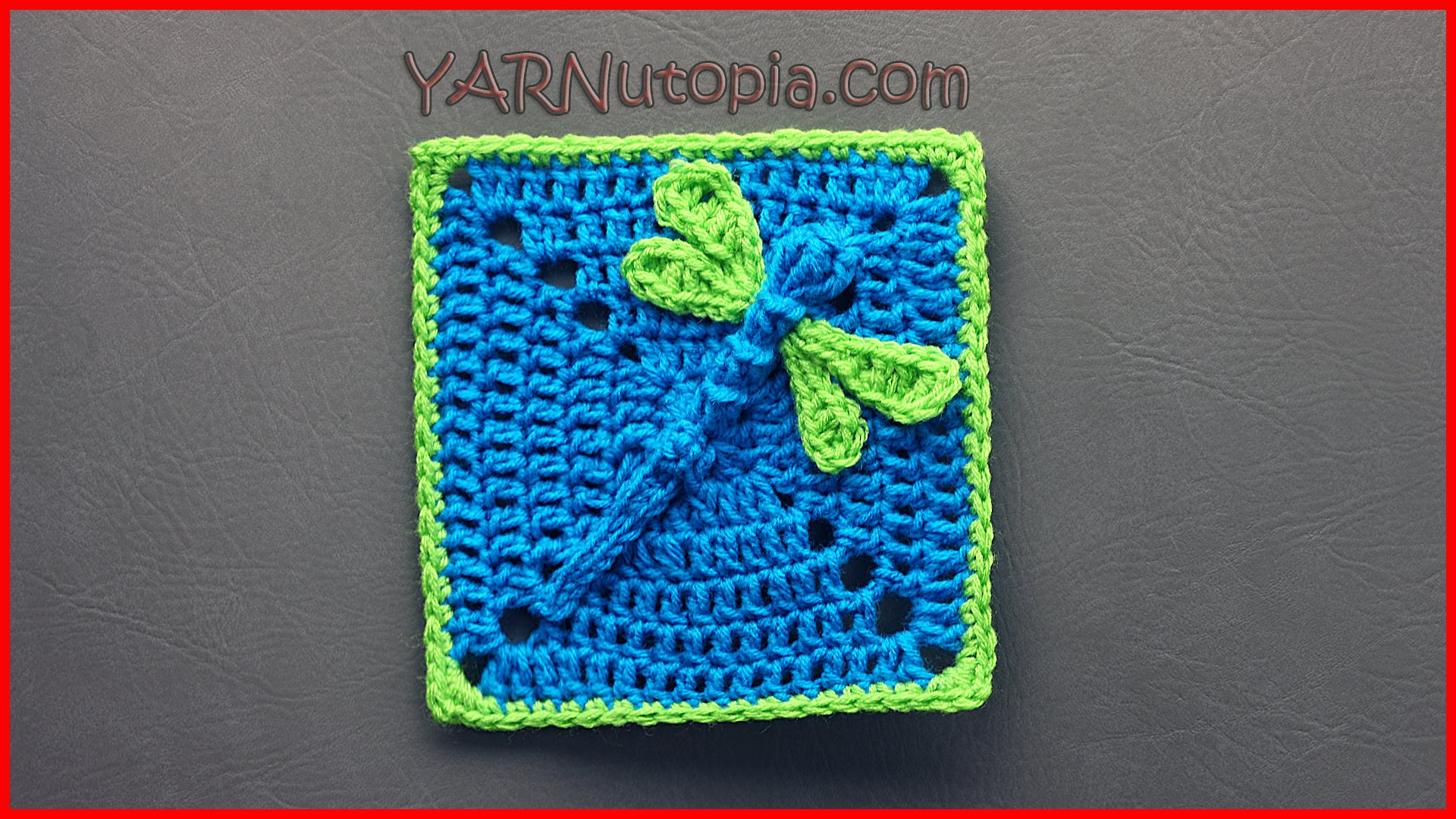 Crochet Tutorial: Dazzling Dragonfly Granny Square