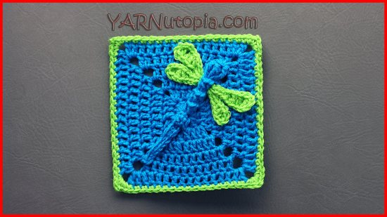 Crochet Tutorial Dazzling Dragonfly Granny Square Yarnutopia By