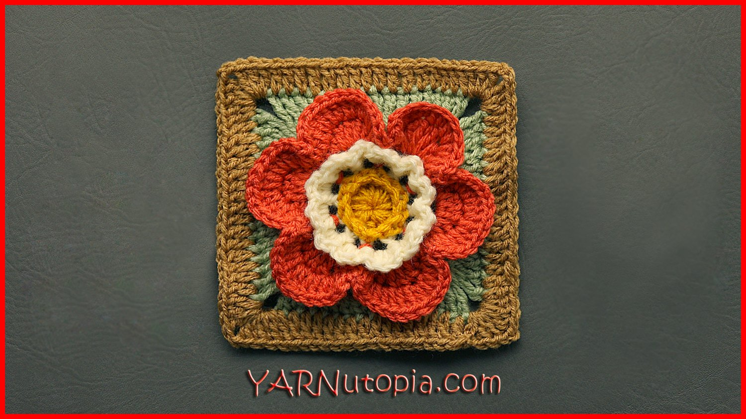 Crochet Tutorial: Autumn Flower Granny Square « YARNutopia ...