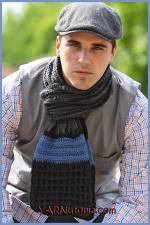 Crochet Tutorial: Classic Man Scarf