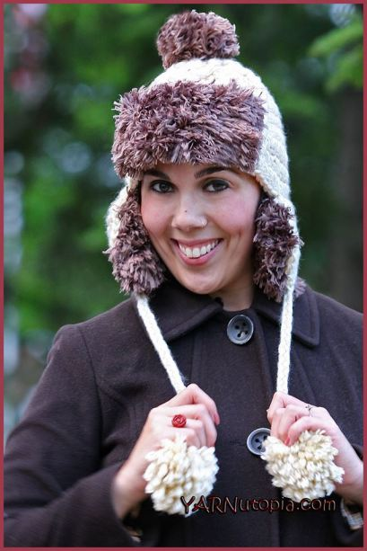 Crochet Tutorial Faux Fur Trapper Hat Yarnutopia By Nadia Fuad