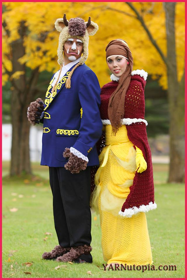 Beauty and The Beast  sc 1 st  YARNutopia by Nadia Fuad & 24 DIY Creative Crochet Costume Ideas « YARNutopia by Nadia Fuad