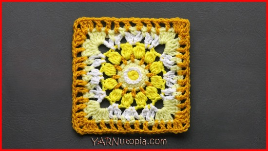 Crochet Tutorial: Sublime Light Granny Square « YARNutopia by Nadia Fuad