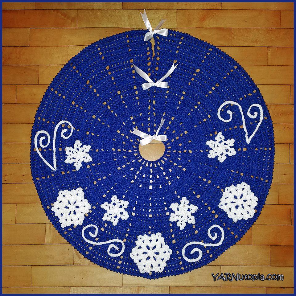 Crochet Tutorial: Fabulous Flurries Tree Skirt ...
