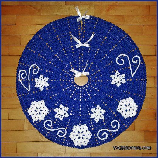 Easy Crochet Christmas Tree Skirt: Crochet Tutorial: Fabulous Flurries Tree Skirt