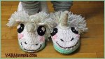 Crochet Tutorial: Unicorn Slippers