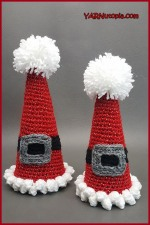 Crochet Tutorial: Sparkle and Puff HolidayCones