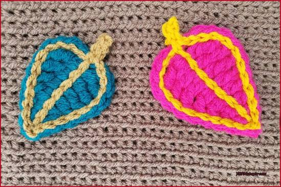Crochet Tutorial Leaf Applique Yarnutopia By Nadia Fuad