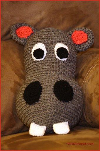 Crochet Tutorial Happy Hubert The Hippo Pillow Yarnutopia By