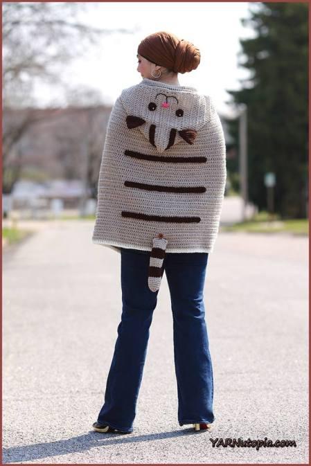 Crochet Tutorial Kitty Cat Poncho Yarnutopia By Nadia Fuad