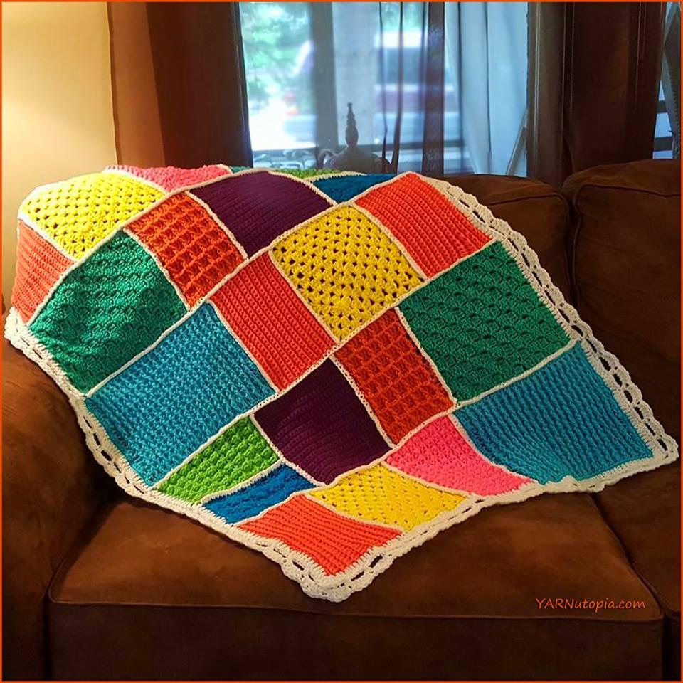 Crochet Tutorial: Dream-Time Mosaic Baby Quilt « YARNutopia by Nadia ...