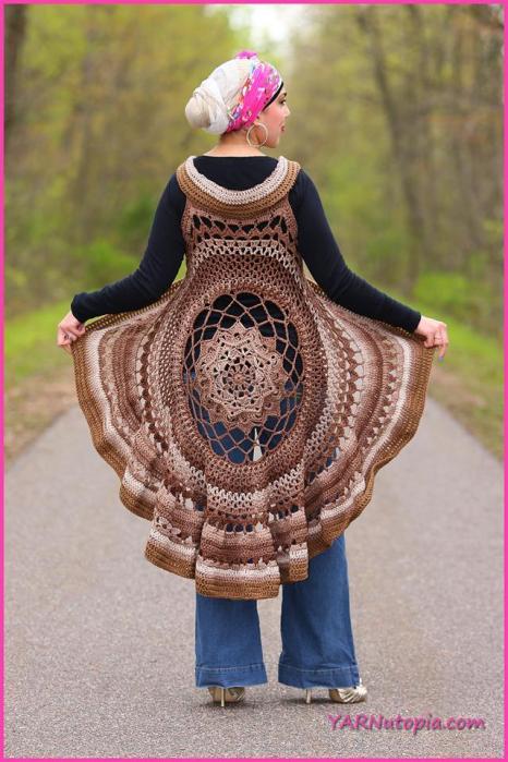 Crochet Tutorial Spring Sun Mandala Vest Yarnutopia By Nadia Fuad