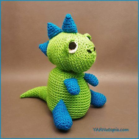 Crochet Tutorial Spike The T Rex Dinosaur Amigurumi Yarnutopia By