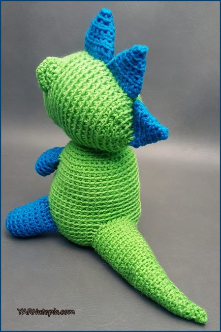 Crochet Tutorial Spike The T Rex Dinosaur Amigurumi Yarnutopia By