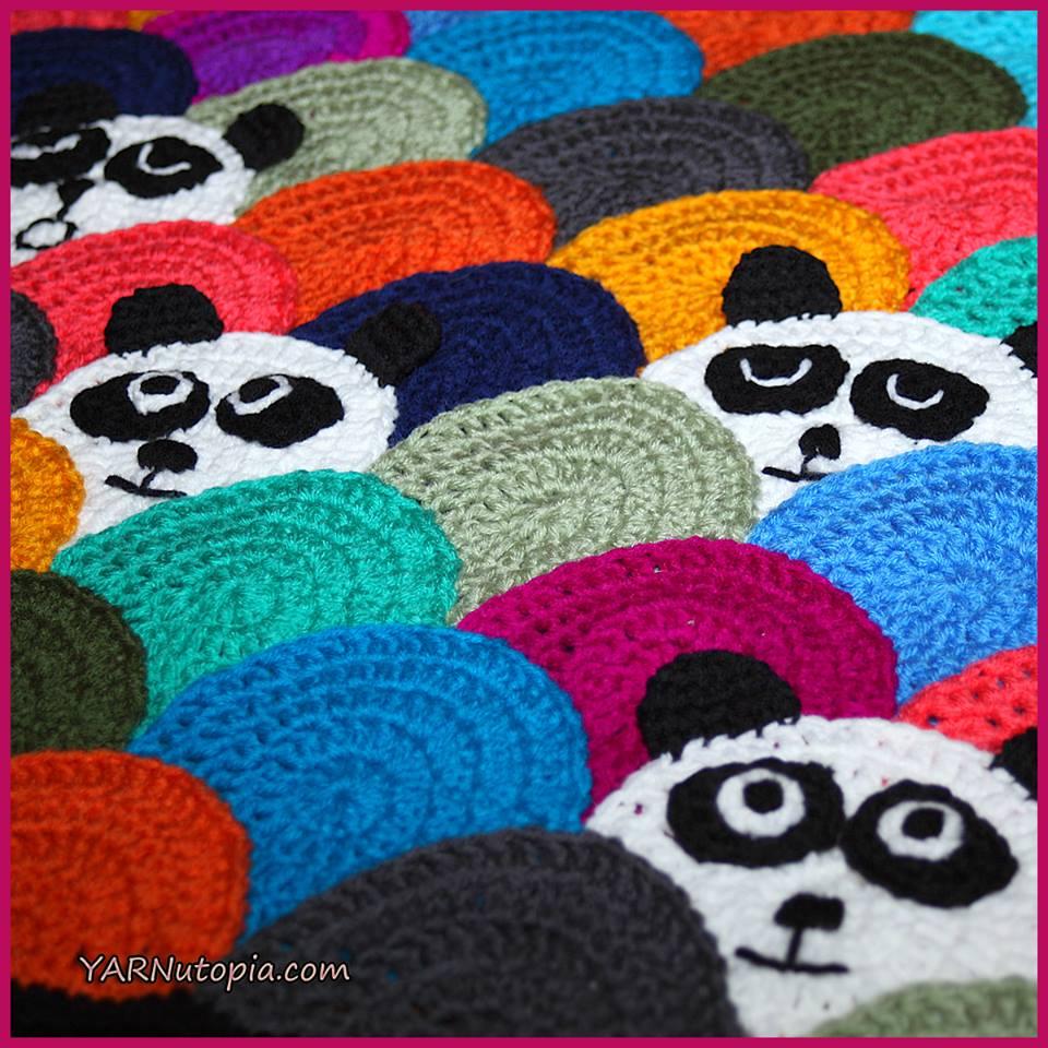 Crochet Tutorial Roly Poly Panda Quilt 171 Yarnutopia By