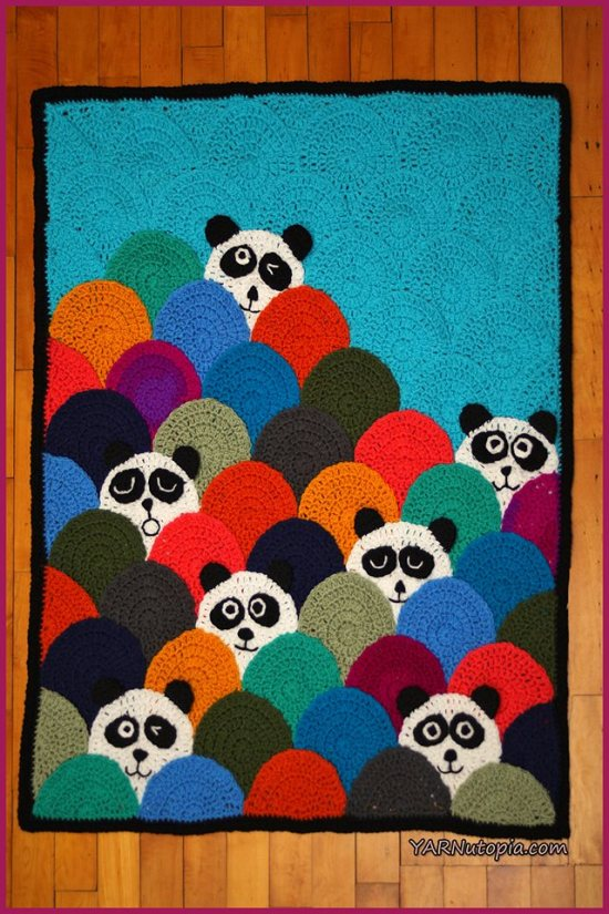 Crochet Tutorial Roly Poly Panda Quilt Yarnutopia By Nadia Fuad