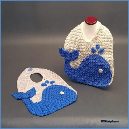 Crochet Tutorial The Blue Whale Baby Bib Yarnutopia By Nadia Fuad