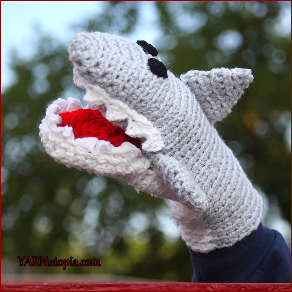 Printable Shark Puppet Paper Crafts For Kids