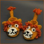 Crochet Tutorial: Little Lion Baby Booties
