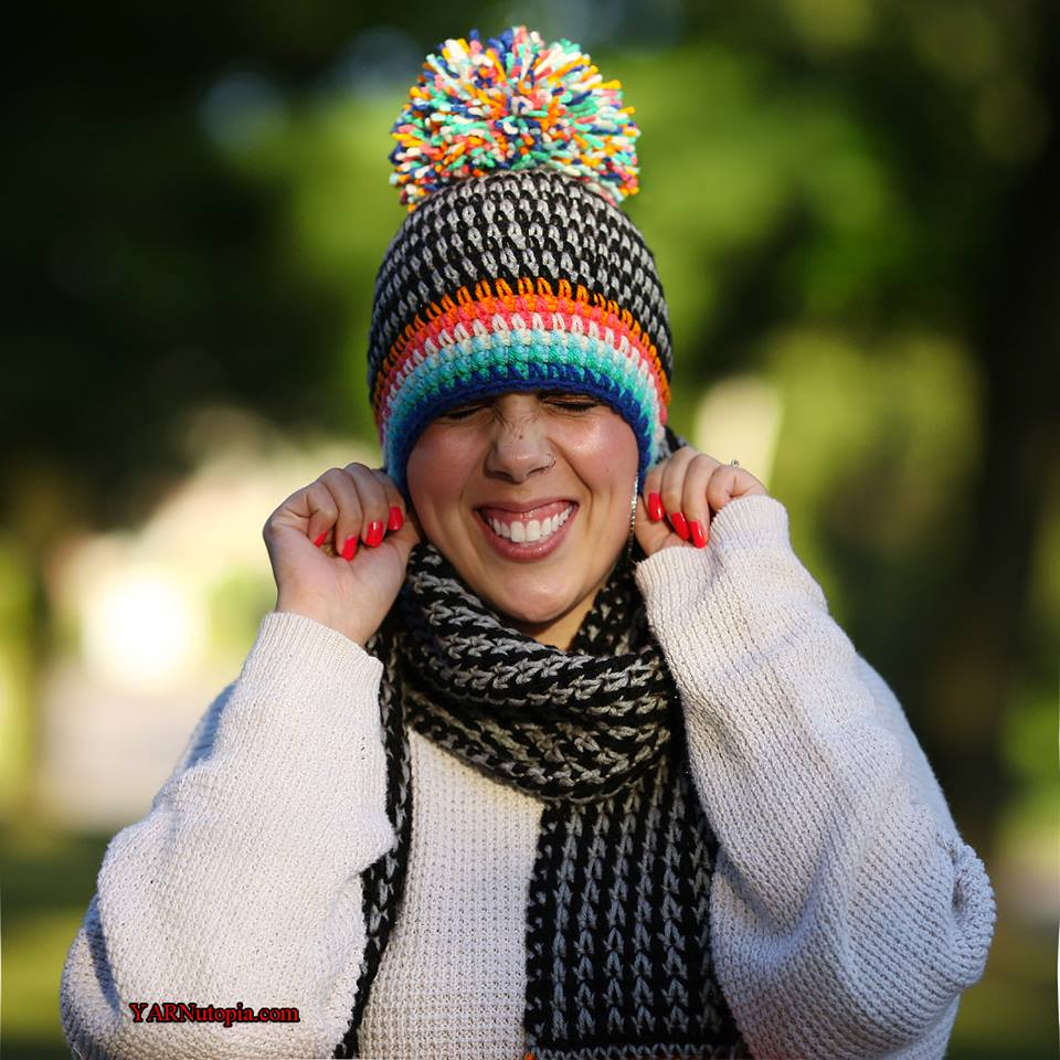 Crochet Tutorial Boho Pom Hat 171 Yarnutopia By Nadia Fuad