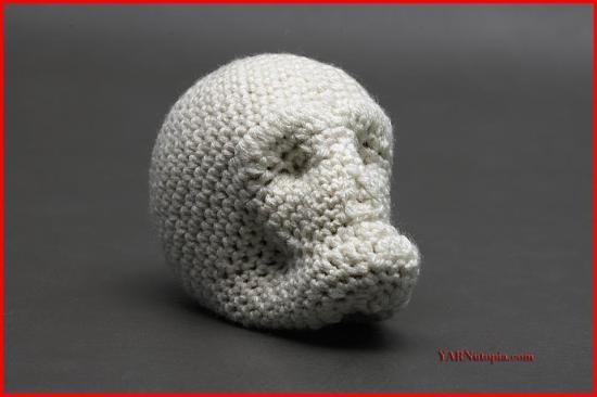 Crochet Tutorial Crochet Around Mache Skull Yarnutopia By Nadia Fuad