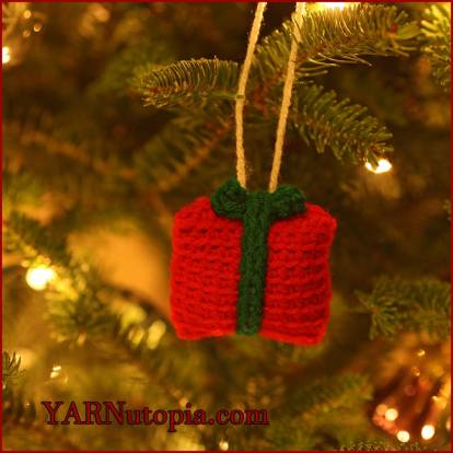 in the 12 days of christmas ornament collection this is such a cute little crocheted gift to adorn your tree or use it instead of a bow on a package