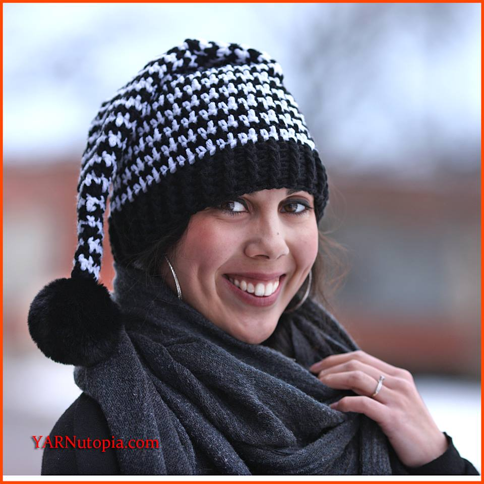 Crochet Tutorial: Houndstooth Stocking Hat « YARNutopia by Nadia Fuad