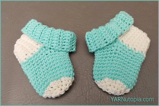 Crochet Tutorial Simple Baby Socks Yarnutopia By Nadia Fuad