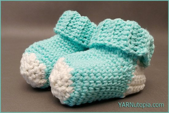 Crochet Tutorial Simple Baby Socks Yarnutopia By Nadia Fuad
