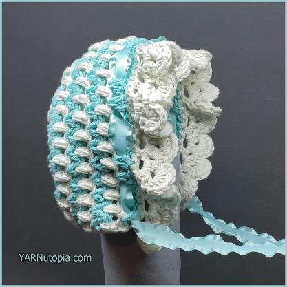 Crochet Tutorial Vintage Style Baby Bonnet Yarnutopia By Nadia Fuad